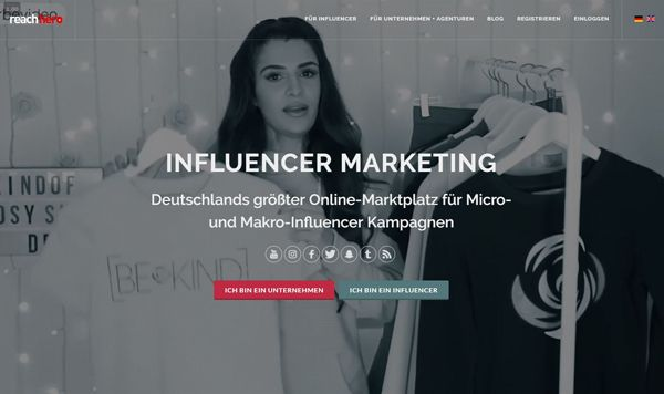 Influencer Marketing Plattform  ReachHero compressor